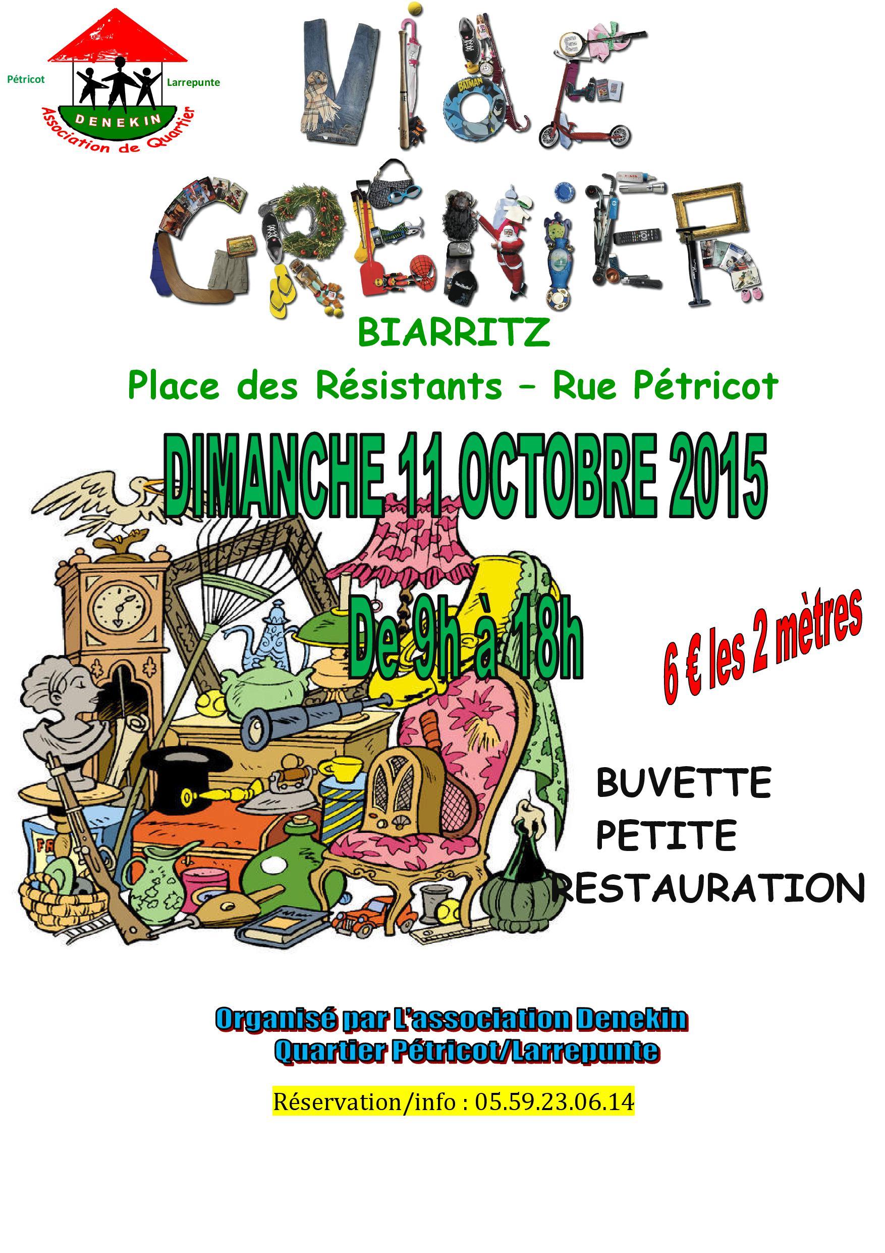 Vide grenier p tricot le 11 octobre de 9h00 18h00 association denekin - Vide grenier les angles ...